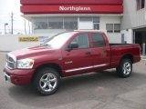 2008 Inferno Red Crystal Pearl Dodge Ram 1500 Laramie Quad Cab 4x4 #7968587