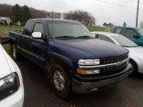 2002 Indigo Blue Metallic Chevrolet Silverado 1500 LS Extended Cab 4x4 #79949797