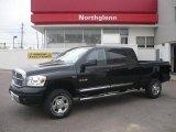 2008 Brilliant Black Crystal Pearl Dodge Ram 1500 Laramie Mega Cab 4x4 #7968592