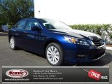 2013 Obsidian Blue Pearl Honda Accord EX-L V6 Sedan #79949276