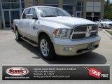 2012 Bright White Dodge Ram 1500 Laramie Longhorn Crew Cab #79950321