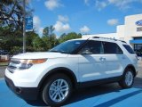 Oxford White Ford Explorer in 2013
