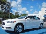 2013 White Platinum Metallic Tri-coat Ford Fusion SE 1.6 EcoBoost #79949625