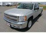 2013 Silver Ice Metallic Chevrolet Silverado 1500 LT Extended Cab 4x4 #79950257