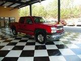 2005 Victory Red Chevrolet Silverado 1500 LT Crew Cab 4x4 #80042339