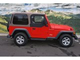 2002 Jeep Wrangler Flame Red