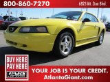 2001 Zinc Yellow Metallic Ford Mustang V6 Coupe #80042322
