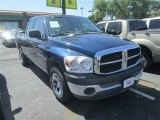 2007 Patriot Blue Pearl Dodge Ram 1500 ST Quad Cab #80041613