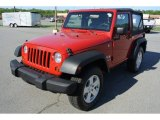 2011 Flame Red Jeep Wrangler Sport S 4x4 #80041782