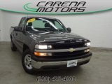 2002 Medium Charcoal Gray Metallic Chevrolet Silverado 1500 Work Truck Regular Cab #80041864