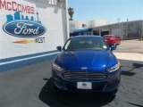2013 Deep Impact Blue Metallic Ford Fusion SE 1.6 EcoBoost #80042267
