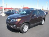 2011 Dark Cherry Kia Sorento LX AWD #80041743