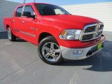 2009 Flame Red Dodge Ram 1500 Lone Star Edition Crew Cab #80076102