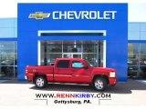 2013 Victory Red Chevrolet Silverado 1500 LT Crew Cab 4x4 #80076206