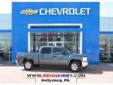 2013 Blue Granite Metallic Chevrolet Silverado 1500 LT Crew Cab 4x4 #80076205