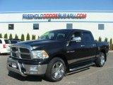 2010 Brilliant Black Crystal Pearl Dodge Ram 1500 Big Horn Crew Cab 4x4 #80076363