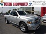 2009 Bright Silver Metallic Dodge Ram 1500 Big Horn Edition Quad Cab 4x4 #80076278