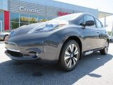 2013 Metallic Slate Nissan LEAF SL #80117509