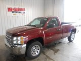2013 Deep Ruby Metallic Chevrolet Silverado 1500 LS Regular Cab #80117906
