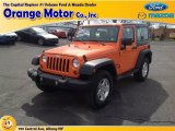 2012 Crush Orange Jeep Wrangler Sport S 4x4 #80117372