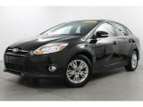 2012 Tuxedo Black Metallic Ford Focus SEL Sedan #80117043