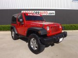 2010 Flame Red Jeep Wrangler Rubicon 4x4 #80117591