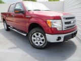 2013 Ruby Red Metallic Ford F150 XLT SuperCrew 4x4 #80117411