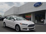 2013 White Platinum Metallic Tri-coat Ford Fusion Hybrid SE #80174320