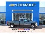 2013 Blue Granite Metallic Chevrolet Silverado 1500 LT Extended Cab 4x4 #80174565