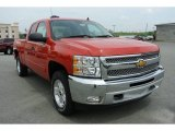 2013 Victory Red Chevrolet Silverado 1500 LT Extended Cab 4x4 #80174657