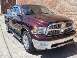 2012 Deep Molten Red Pearl Dodge Ram 1500 Laramie Crew Cab 4x4 #80225882