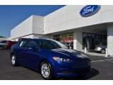 2013 Deep Impact Blue Metallic Ford Fusion SE #80225265
