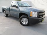 2012 Blue Granite Metallic Chevrolet Silverado 1500 Work Truck Regular Cab 4x4 #80225345