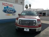 2013 Ruby Red Metallic Ford F150 Lariat SuperCrew 4x4 #80290075