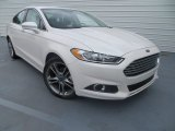 2013 White Platinum Metallic Tri-coat Ford Fusion Titanium #80290327