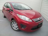 2013 Ruby Red Ford Fiesta SE Sedan #80290326