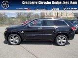 2014 Brilliant Black Crystal Pearl Jeep Grand Cherokee Overland 4x4 #80290163