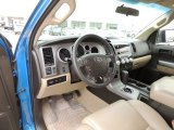 2010 Toyota Tundra TSS CrewMax Sand Beige Interior