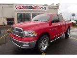 2012 Flame Red Dodge Ram 1500 Big Horn Quad Cab 4x4 #80290459