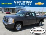 2010 Taupe Gray Metallic Chevrolet Silverado 1500 LS Extended Cab 4x4 #80290619