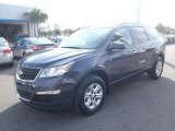 2013 Atlantis Blue Metallic Chevrolet Traverse LS #80351317