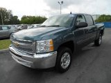 2013 Blue Granite Metallic Chevrolet Silverado 1500 LT Crew Cab #80351309