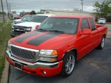 2005 Fire Red GMC Sierra 1500 SLT Extended Cab #80351118