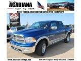 2011 Deep Water Blue Pearl Dodge Ram 1500 Laramie Crew Cab 4x4 #80351045
