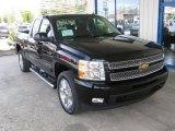 2013 Black Chevrolet Silverado 1500 LTZ Extended Cab 4x4 #80351216