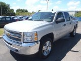 2013 Silver Ice Metallic Chevrolet Silverado 1500 LT Crew Cab 4x4 #80351350