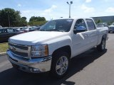 2013 Summit White Chevrolet Silverado 1500 LT Crew Cab 4x4 #80351349