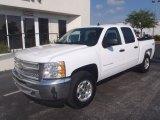 2013 Summit White Chevrolet Silverado 1500 LT Crew Cab 4x4 #80351345