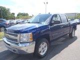 2013 Blue Topaz Metallic Chevrolet Silverado 1500 LT Crew Cab 4x4 #80351343