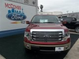 2013 Ruby Red Metallic Ford F150 Lariat SuperCrew 4x4 #80383927